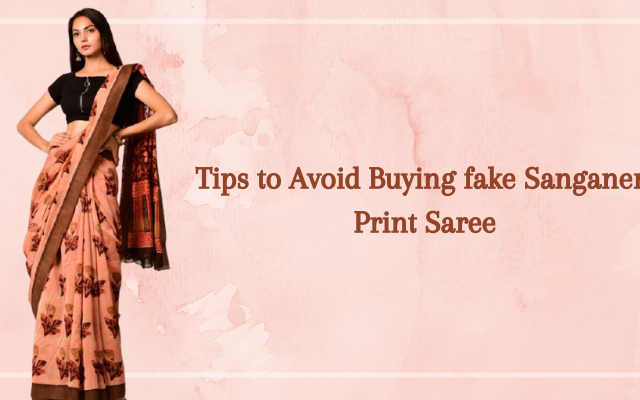 Tips to Avoid Buying fake Sanganeri Print Saree